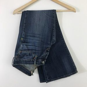 Lucky Brand Jeans boot cut dark wash short jeans